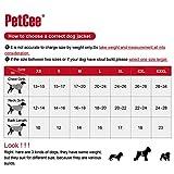 PetCee Waterproof Dog Jacket Fleece Lined Reflective Loft Dog Coat Climate Changer Fleece Jacket (Red L)