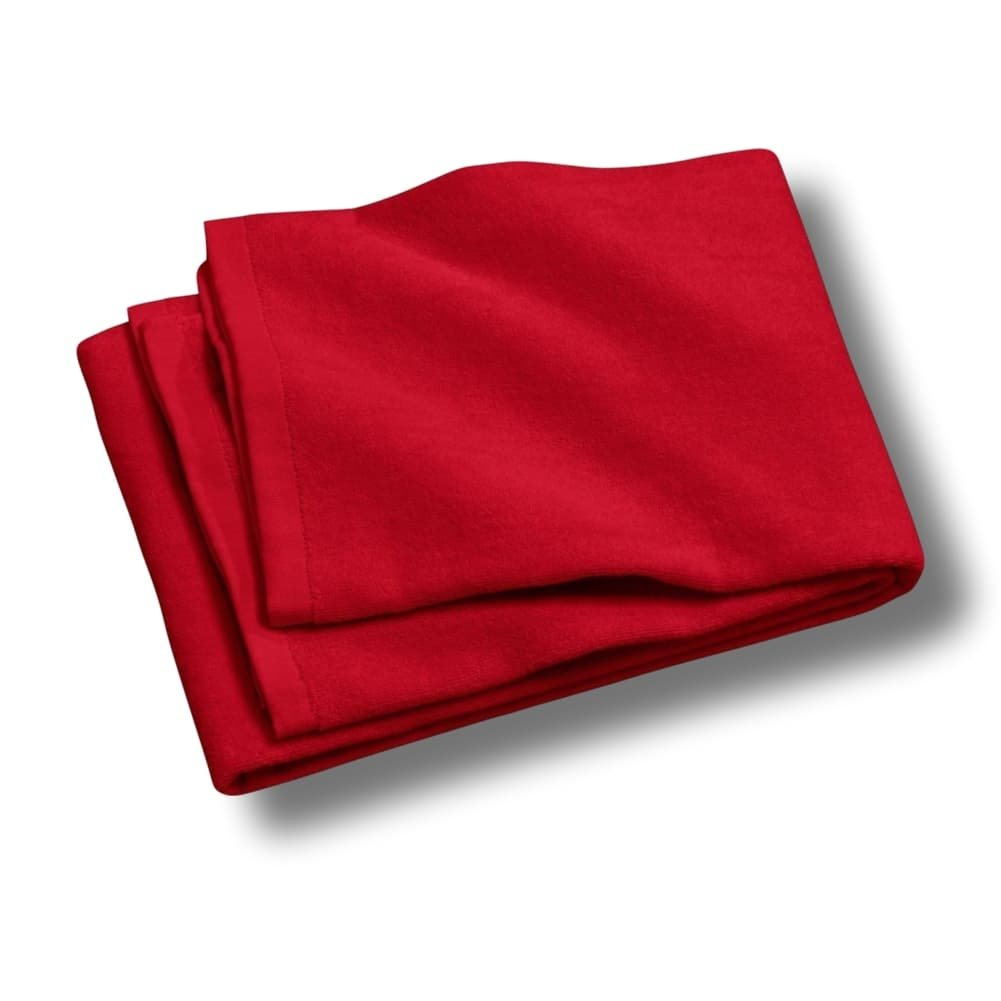"""Custom & Luxurious {30"""" x 60"""" Inch} 2 Pack of Large & Thick Soft Summer Beach & Bath Towels Made of Quick-Dry Cotton w/ Modern Lava Solid Colored Cabana Hotel Style [Red]"""