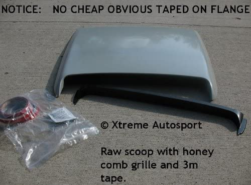 by MrHoodScoop HS009 Including Adrenalin Xtreme Autosport Unpainted Hood Scoop Compatible with 1991-2010 Ford Explorer and Sport Trac