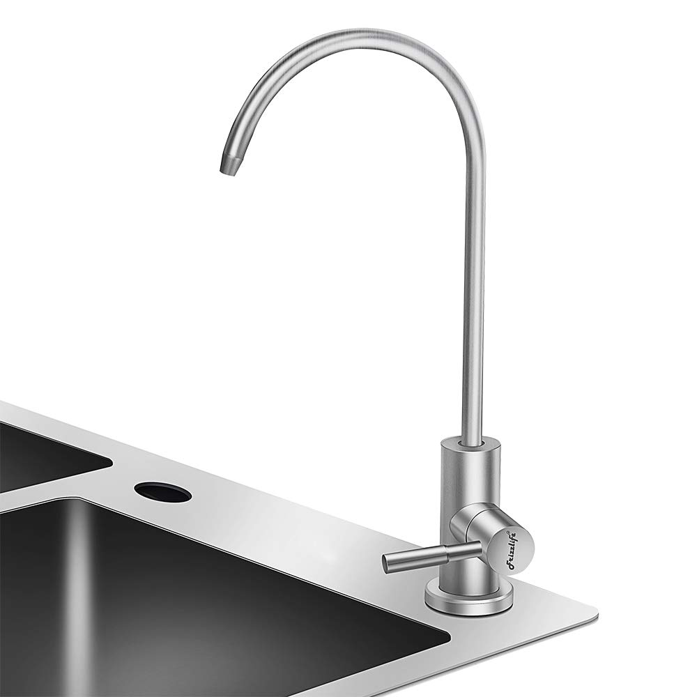 Frizzlife RO Water Filter Faucet- Drinking Water Faucet fits most Reverse Osmosis Water Filtration System-SUS304 Stainless Steel with Brushed Nickel-Lead Free by FRIZZLIFE