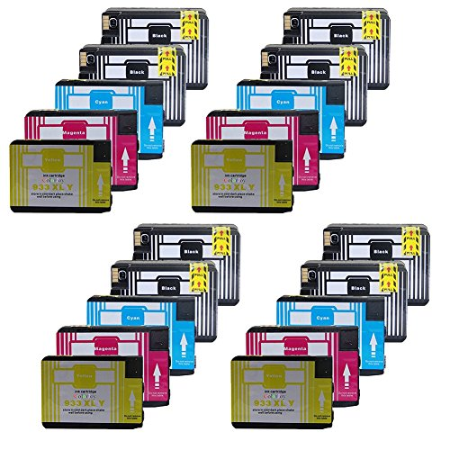 ColorJoy Compatible Chipped Ink Cartridges HP 932XL 933XL (8BK+4C+4M+4Y) 8bk Black Inkjet