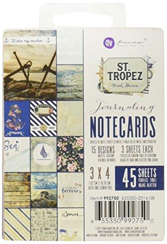 Prima Marketing St. Tropez 3x4 Journaling Cards