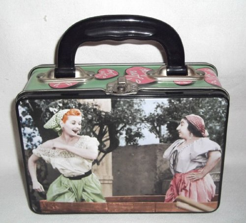 Vandor Tin Tote, I Love Lucy- Collage Retro Style Glossy Lunch -