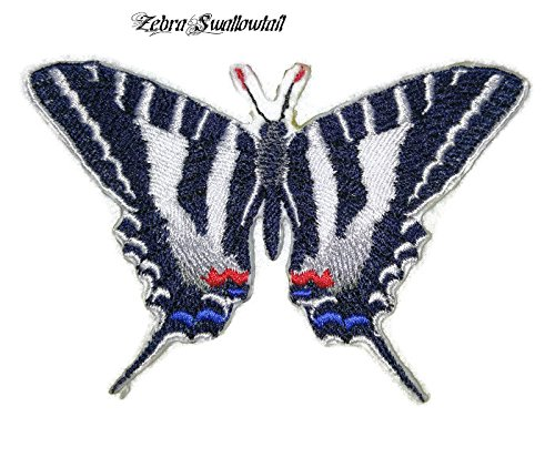 Custom and Unique Amazing Colorful Butterflies[Zebra Swallowtail] Embroidered Iron On/Sew patch [5.5