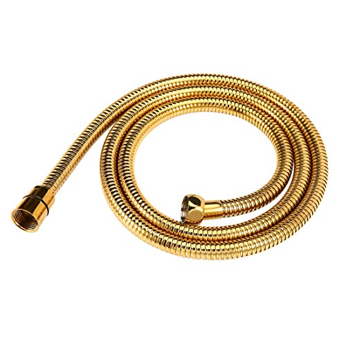 Shower Hose Gold Finish 60-Inch Long Shower Head Hose Bathroom Toilet Handheld Showerhead Sprayer Extension Replacement Part by Arcatech