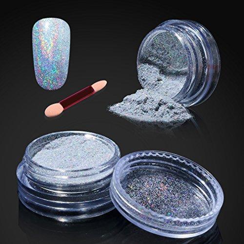 Elite99 Holographic Chrome Nail Powder,Nail Polish Mirror
