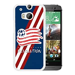 Beautiful Designed Case With New England Revolution 02 White For HTC ONE M8 Phone Case