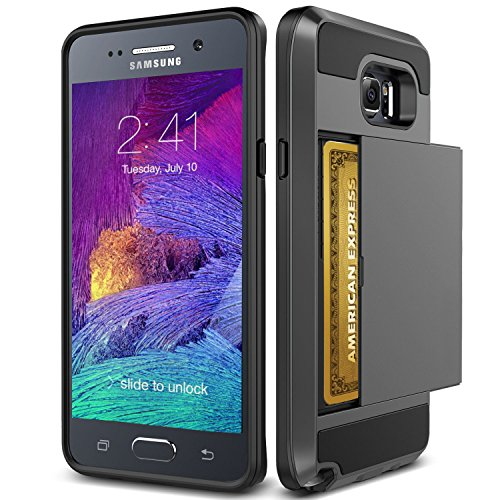 Note 5 Case, TekSonic Samsung Galaxy Note 5 Case (Gunmetal) Armor Series [Card Slide Slot][Drop Protection][Heavy Duty][Wallet] Full Cover Protection Tough Case for Samsung Galaxy Note 5 (Gunmetal)