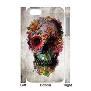 3D Bumper Plastic Case Of Artistic Skull customized case For Iphone 4/4s