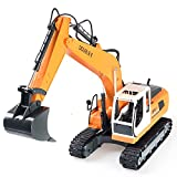Cheerwing 17 Channel Full Functional RC Excavator Fork Remote Control Construction Tractor with Metal Shovel