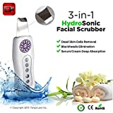 Facial Spatula Cleaner, Face Scrubber, Ultrasonic Facial Scrubber, Blackhead Remover, Gentle Water Microdermabrasion