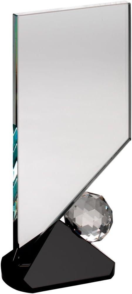 Placa de cristal transparente – TROFEO (y balón de fútbol sobre ...