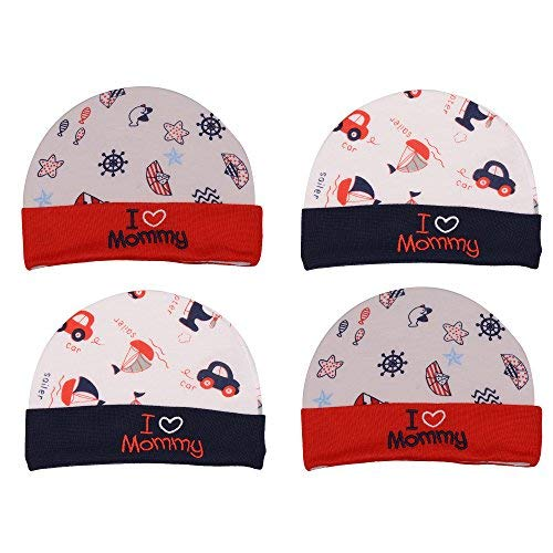 Badru New-Born Baby Caps - 0-10 Months (Pack of 4)  Amazon.in  Clothing    Accessories 28a0fbcf068