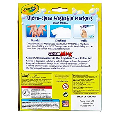 Crayola Washable Markers, Assorted Tropical Colors, 8 Count: Toys & Games