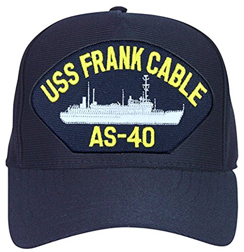 USS Frank Cable AS-40 Baseball Cap. Navy Blue. Made in (Uss Frank Cable)