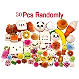 UEETEK 30Pcs Random Mini Soft Jumbo Medium Squishy Panda...
