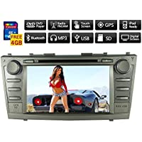8 Toyota 2007-2011 Camry Motorized Touch Screen 2-din Car DVD Player -Gps-bt-tv-bluetooth-fm Free Map