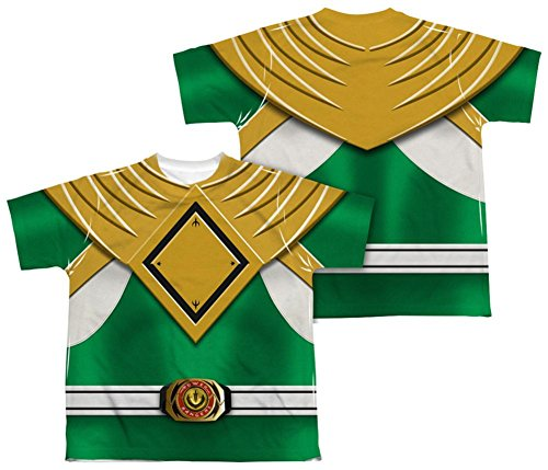 Youth: Power Rangers - Green Ranger (Front/Back Print) Kids T-Shirt Size YS