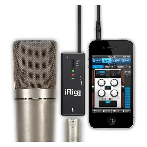 IK Multimedia iRig Pre microphone preamp for smartphones and tablets (Phantom Mic Preamp Power)
