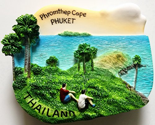 Promthep (Phromthep) Cape PHUKET Thailand High Quality Resin 3D fridge Refrigerator Thai Magnet Hand Made Craft. (Phuket Air)