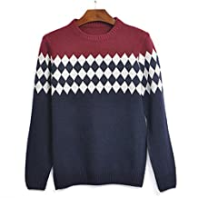 Piggy2gether- Red Retro Pullovers Knitted Long Sleeve Sweater Coat, Winter Wear, XXL