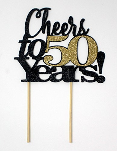 All About Details CATCT50 Cheers to 50 Years Cake Topper , 4