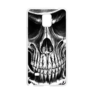 JFLIFE Artistic Skull Phone Case for samsung galaxy note4 White Shell Phone [Pattern-1]