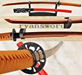 High Quality Red High Carbon Steel Clay Tempered Japanese Samurai Sword Katana--ryan894