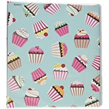 COMIX 2 Pack Letter Size, Heavy Duty Premium Designer 3 Round Ring Binder 1 Inch, BACK TO SCHOOL/CAMPUS (A2134) (Cupcake Dream)