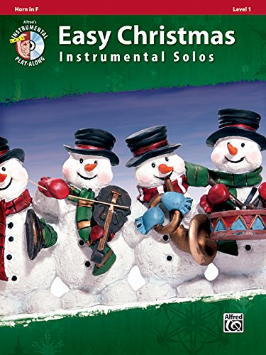 Easy Christmas Instrumental Solos, Level 1: Horn in F, Book & CD (Easy Instrumental Solos Series)