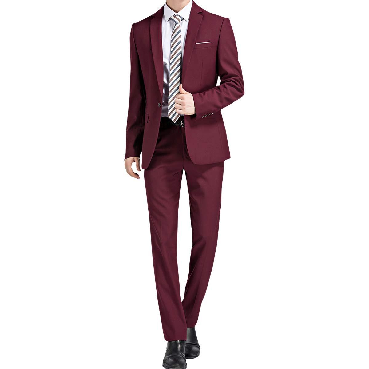 Allthemen Abiti da Uomo 2 Pezzi Slim Fit Wedding Tuxedo Suit Giacche Giacca Monopetto Monopetto