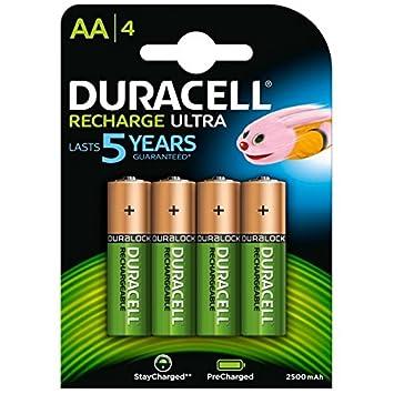 Duracell Recharge Turbo, Batería, NiMH 2500 mAh, 12 V, AA, Pack de 4: Amazon.es: Electrónica