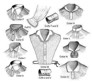 Late Victorian Collars and Cuffs Sewing Pattern Patterns of Time