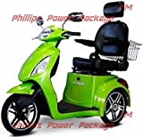 E-Wheels - EW-36 Elite Scooter with Electromagnetic Brakes - 3-Wheel - Green - PHILLIPS POWER PACKAGE TM - TO $500 VALUE