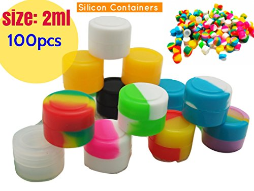 501c7759bd67 2ml Non-Stick Food Grade Silicone Oil Kitchen Container Dab Wax Concentrate  Storage Jars, silicone wax containers,empty jars for cosmetics (100, ...
