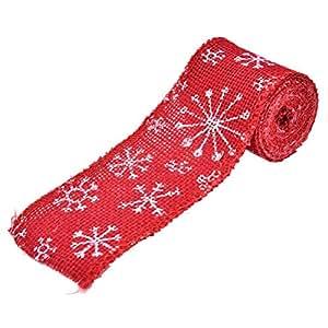 Amazon.com: Decoración de Navidad de arpillera, copo de ...