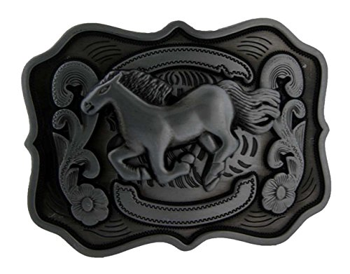 Silver Running Horse Western Belt Buckle Country Unique Metal New Hip - Running Singapore Accessories