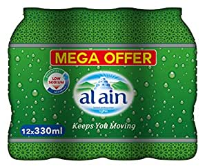 Al Ain Bottled Drinking Water Mega offer Pack - 330 ml (Pack of 12)