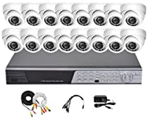 iPower Security SCCMBO0014-2T 16 Channel 2TB HDD Full D1 DVR Security Surveillance System with 16 850TVL Cameras