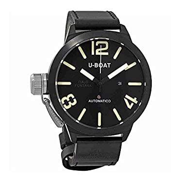 1823 U-Boat Classico AB 53mm Men ETA 2824 Automatic Black Case Strap Watch