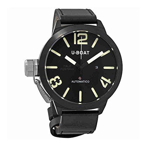 1823 U-Boat Classico AB 53mm Men ETA 2824 Automatic Black Case Strap Watch