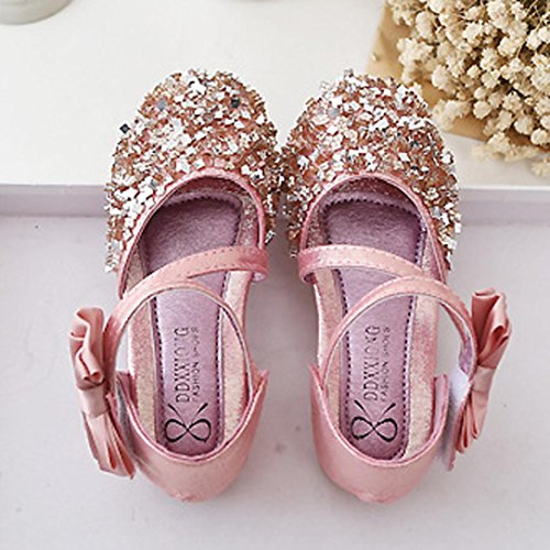 IGEMY Kleinkind Kind Mädchen Mode nette Prinzessin Leather Casual Shoes Rosa