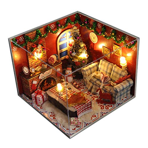 Binory Christmas Warm Winter Home 3D Wooden DIY Miniature for sale  Delivered anywhere in USA