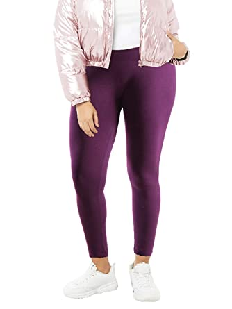 8045280bec0 Women s Plus Size Fleece Lined Leggings (Sold as Single 2 and 5 Pack ...