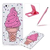 Glitter Case for Huawei P8 Lite,Crystal TPU Cover for Huawei P8 Lite,Herzzer Ultra Slim Creative [Colorful Pattern] Bling Sparkly IMD Design Shock-Absorbing Soft Silicone Gel Bumper Cover Flexible TPU Transparent Skin Protective Case