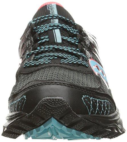Womens Saucony Griglia Escursione Tr10 Trail Running Shoe Nero / Cor / Blu