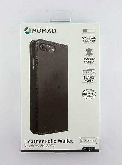 half off eedb0 cb2d6 Nomad Leather Folio Wallet Case for Apple iPhone 7 Plus Black 6 Cards+Cash  CASE-I7PLUS-FOLIO-GRAY