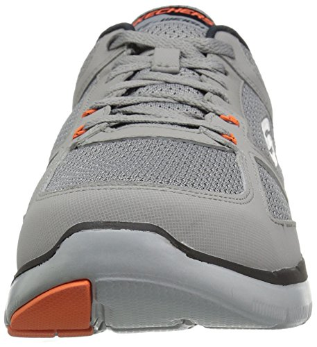 Skechers Flex Advantage 2.0 -Golden Point - Zapatillas Hombre Light Gray/Orange