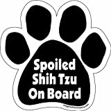 Imagine This Paw Car Magnet Spoiled Shih Tzu On Board 5-12-inch By 5-12-inch by Imagine This Company
