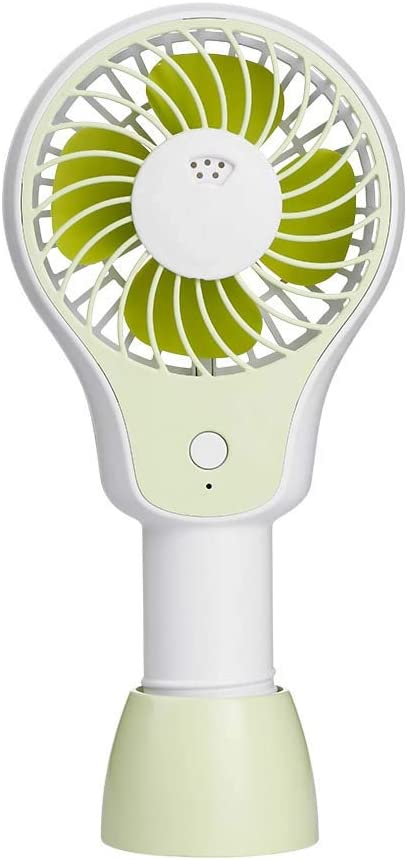 Ccsluo Portable Handheld Fan USB Student Desktop Office Outdoor Mini Fan,Green